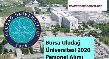 Bursa Uludağ Üniversitesi 2020 Personel Alımı