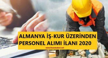 Almanya İş-Kur Üzerinden Personel Alımı 2020