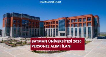 Batman Üniversitesi 2020 Personel Alımı