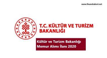 Kültür ve Turizm Bakanlığı 2020 Personel Alımı