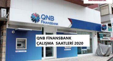 QNB Finansbank Çalışma Saatleri 2020