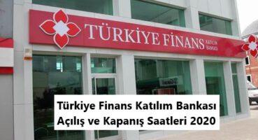 Türkiye Finans Çalışma Saatleri 2020