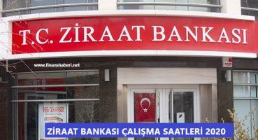 Ziraat Bankası Çalışma Saatleri 2020