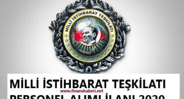 Milli İstihbarat Teşkilatı Personel Alımı 2020
