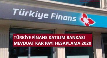 Türkiye Finans Kar Payı Hesaplama 2020