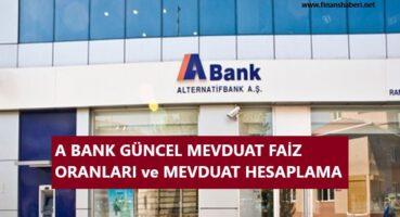 A BANK MEVDUAT FAİZ ORANLARI 2020