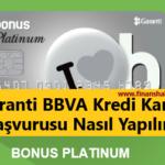 garanti bbva kredi kartı başvurusu nasıl yapılır