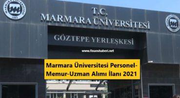 Marmara Üniversitesi Personel Alımı 2021