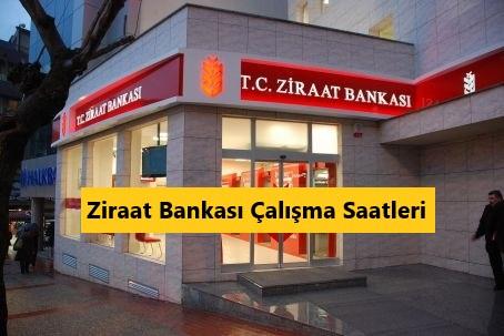 ziraat bankası çalışma saatleri 2021